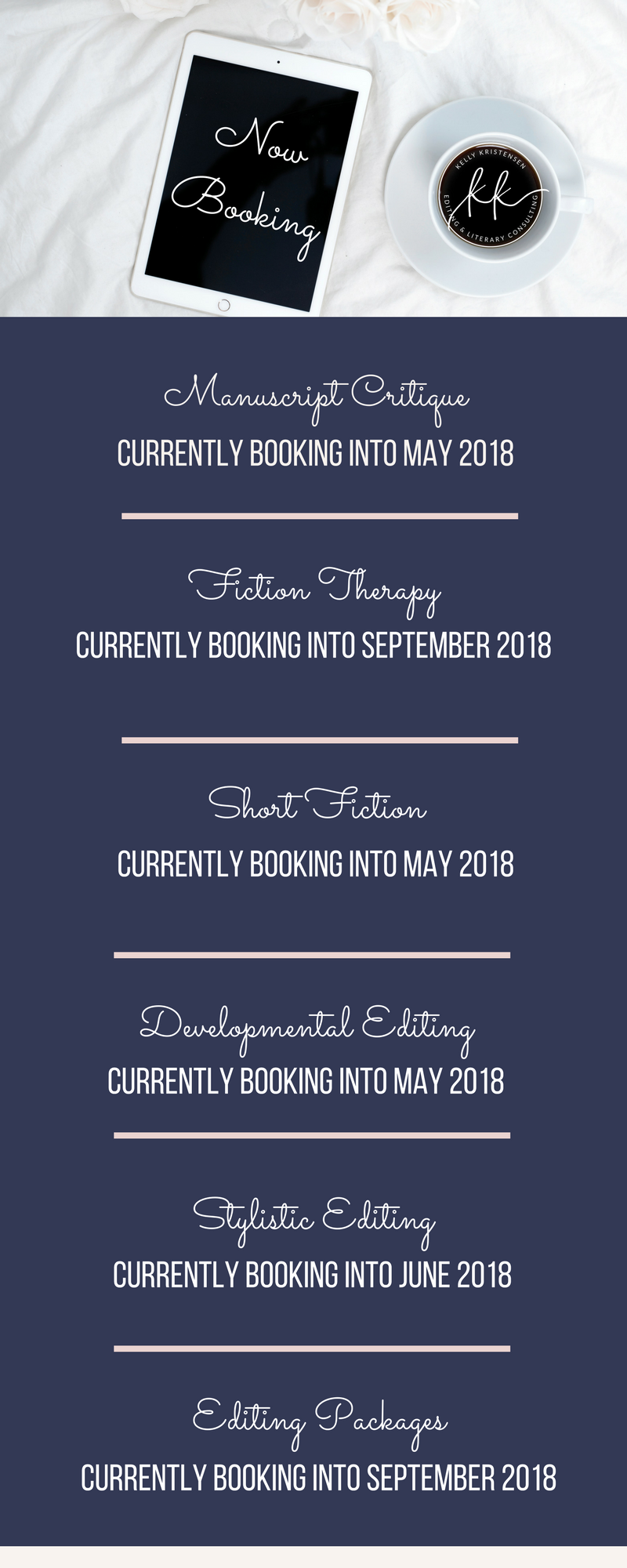 CURRENTLY BOOKING